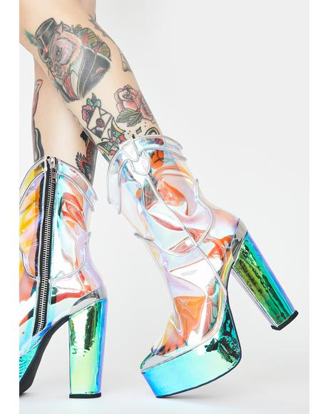 Dazed Deputy Holographic Boots