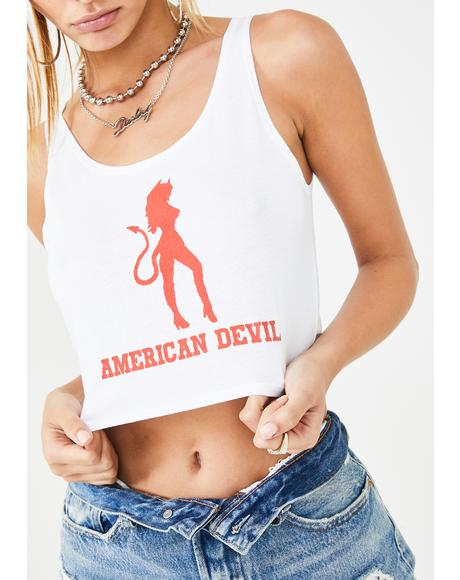 American Devil Cropped Tank