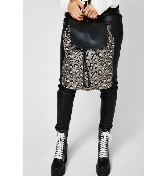 Purrfect Illusion Sequin Backpack
