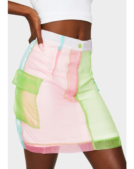 Blitz Color Block Organza Skirt