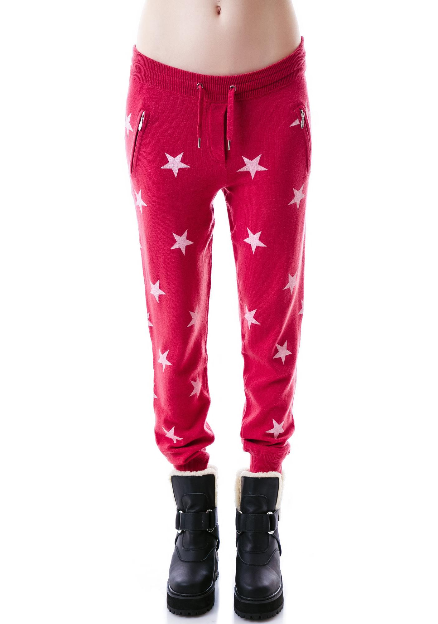 Zoe Karssen Stars All Over Loose Fit Sweatpants