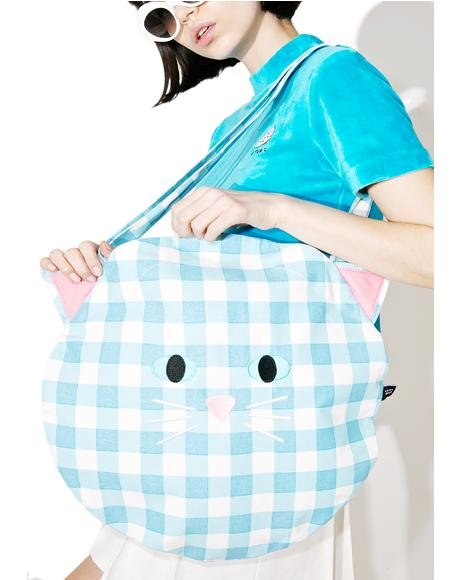 Cat Gingham Bag