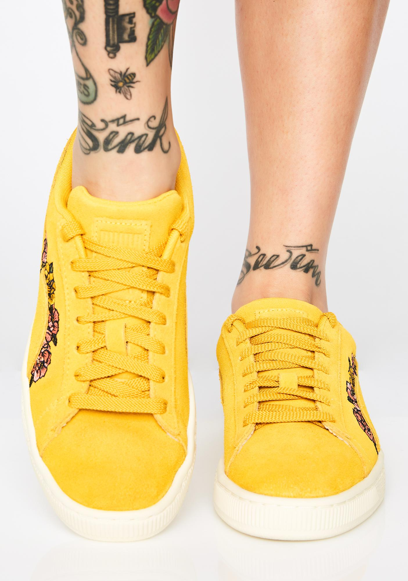 PUMA Suede Tol Embroidery Sneakers