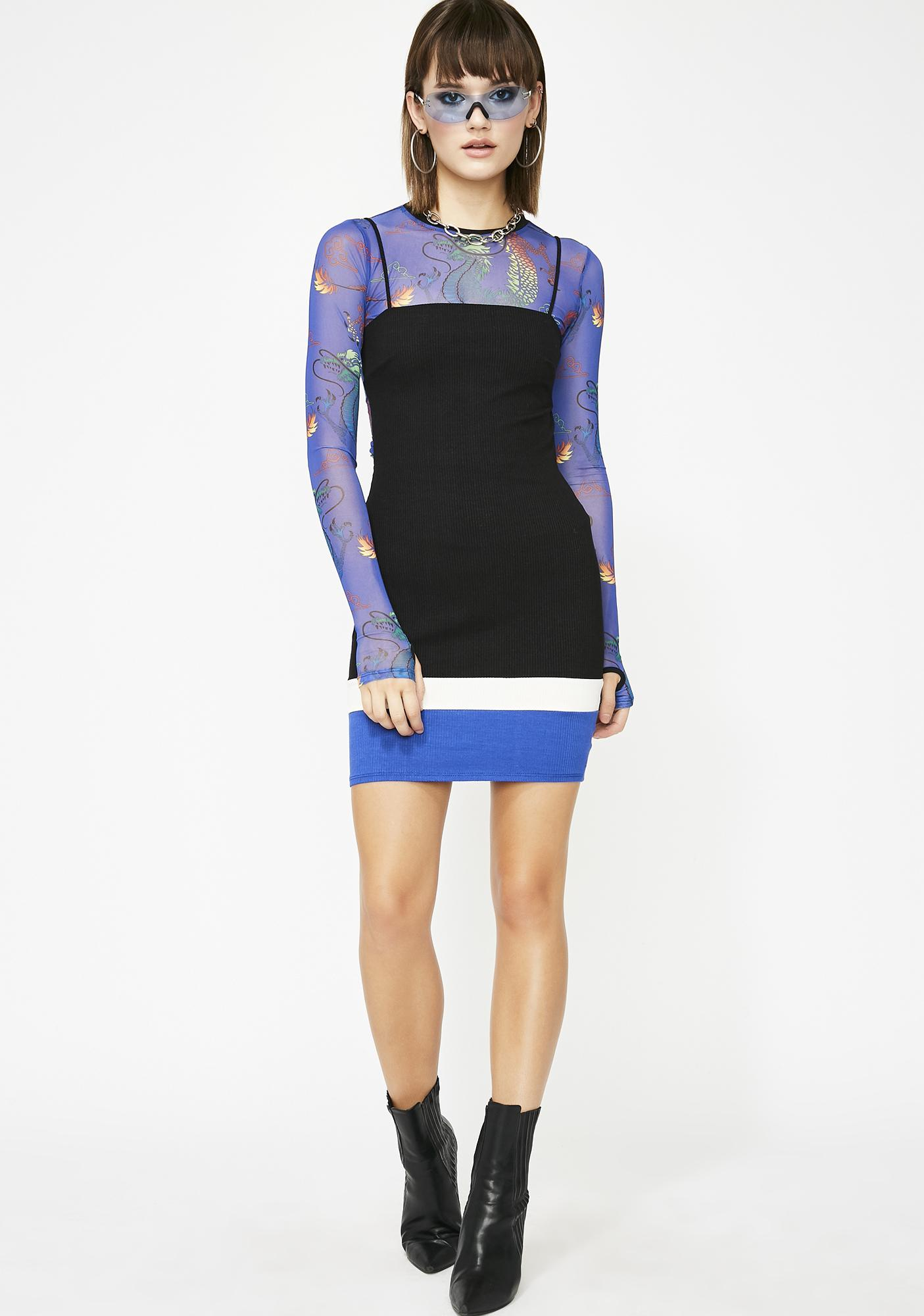 Blockin Calls Colorblock Dress