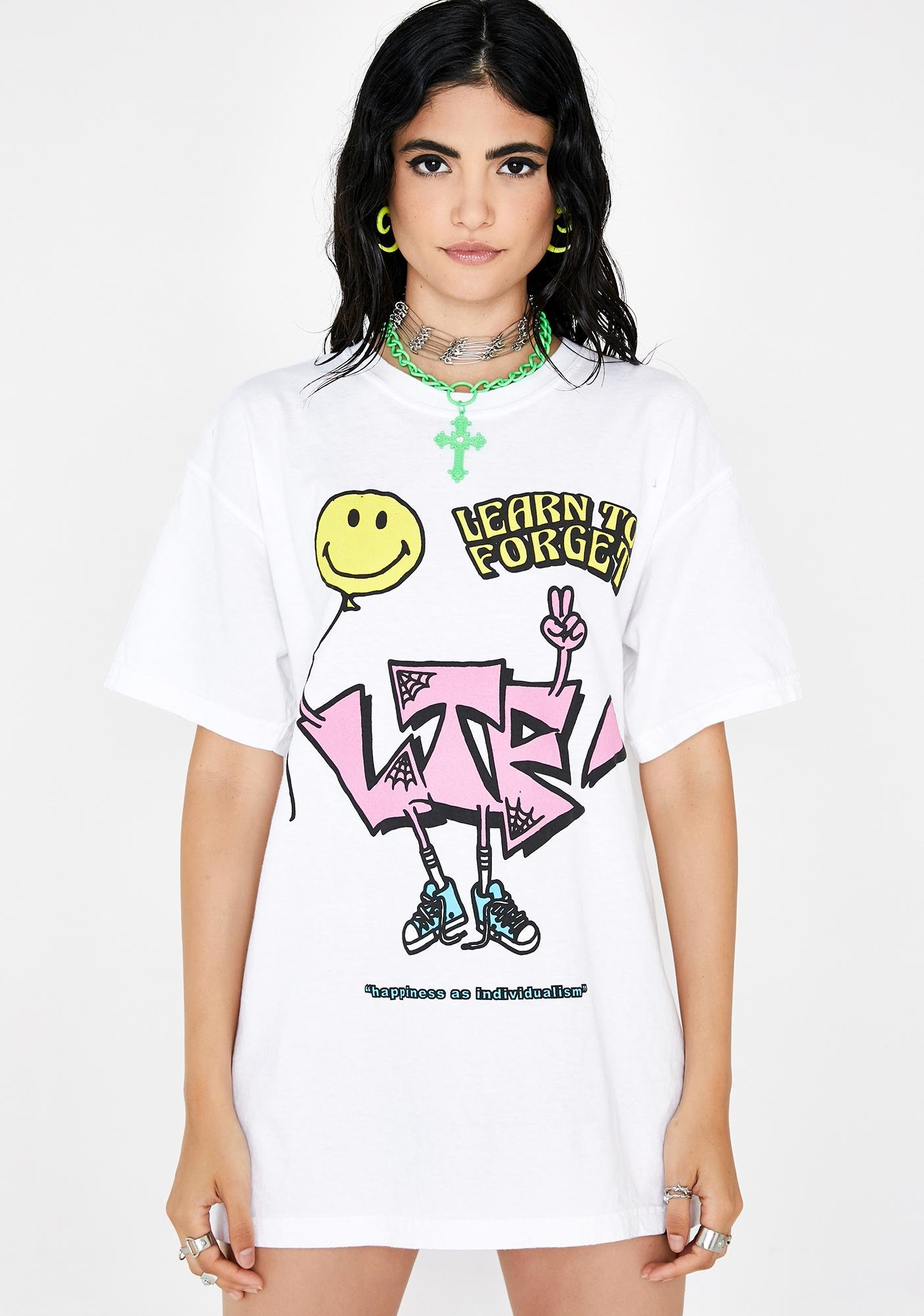 Learn To Forget  Smiley Happiness Tee
