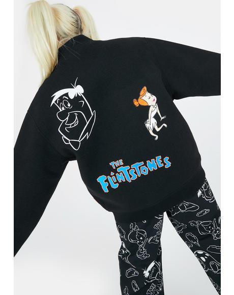 X Flintstones Characters Bomber Jacket