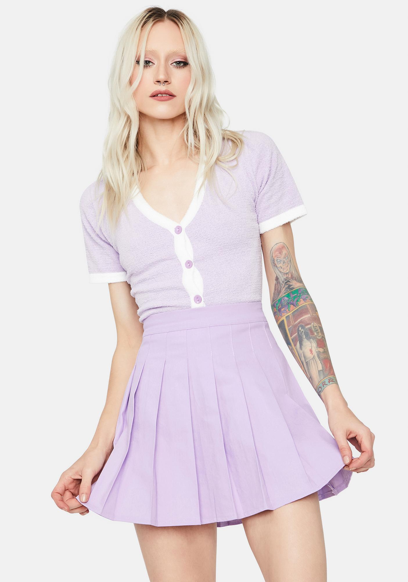 Lilac Just Like Candy Pleated Skirt