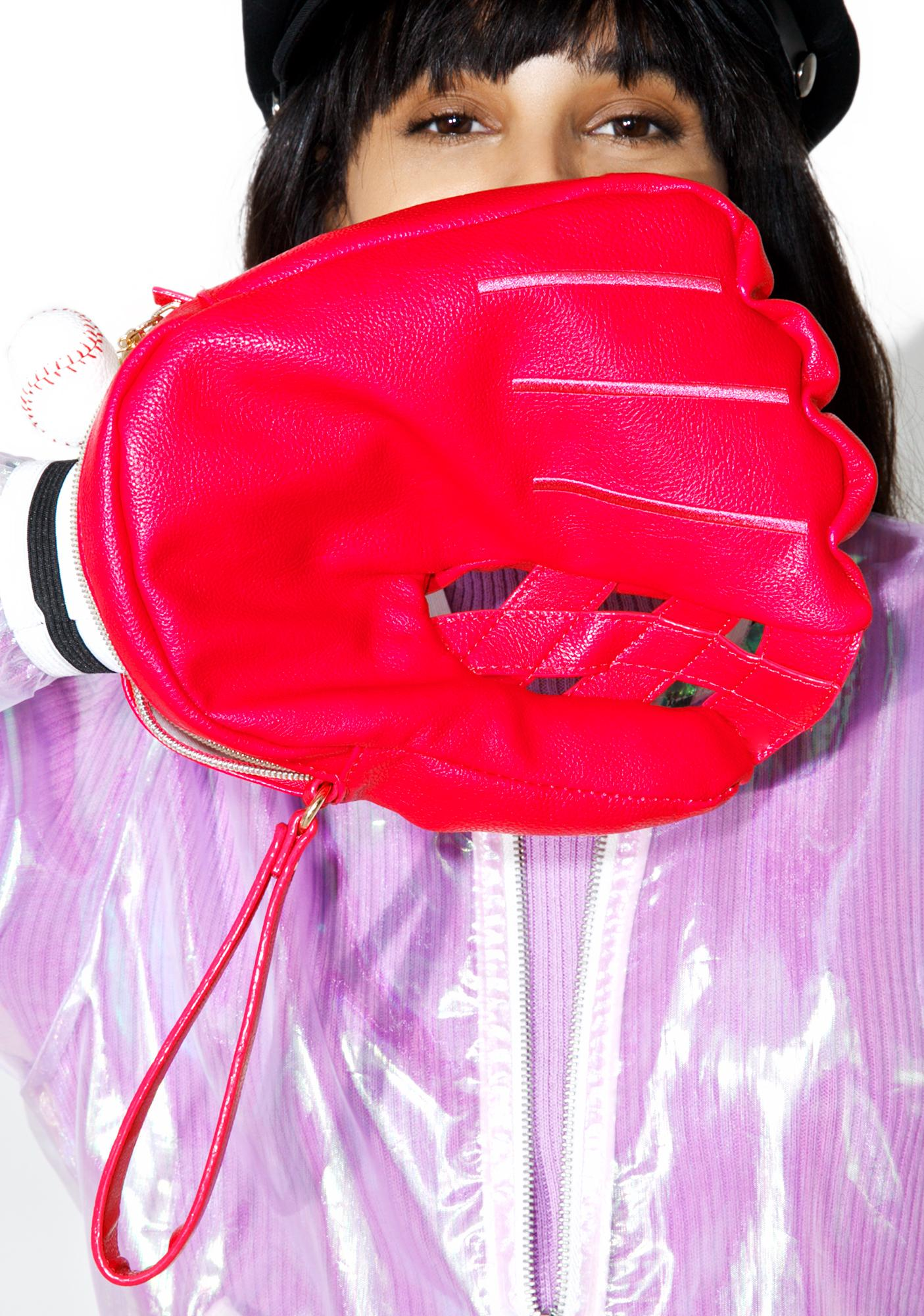 Betsey Johnson Baseball Mitt Bag