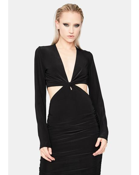 Made For Me Cutout Midi Dress