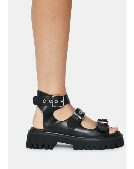 Trantor Buckle Sandals