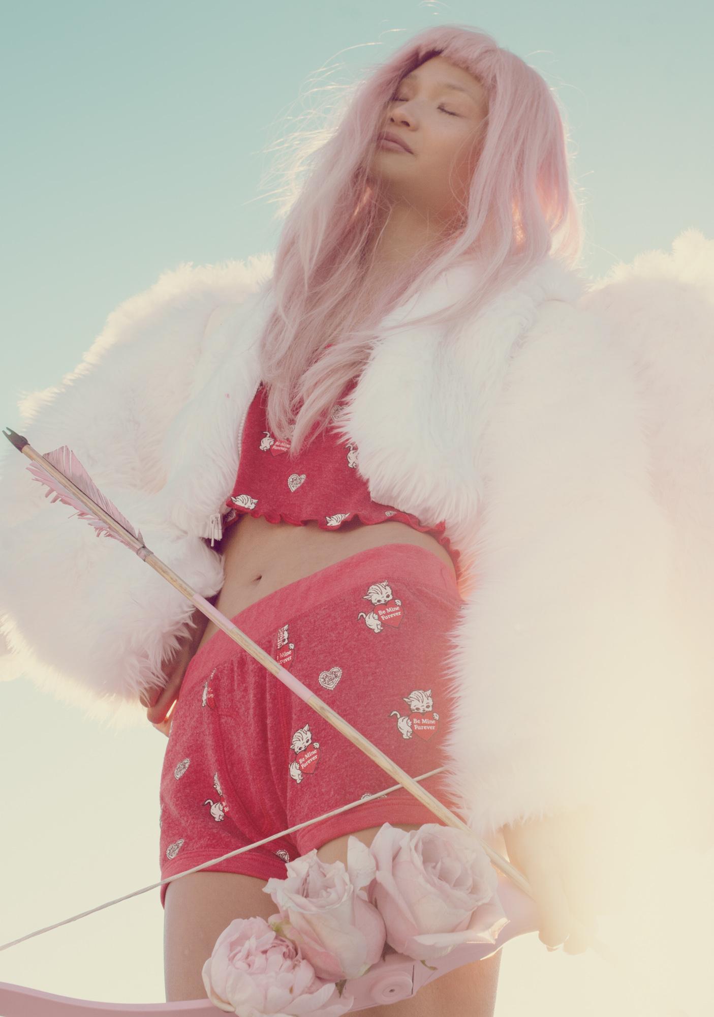 Wildfox Couture Furever Print High Waist Boy Shorts