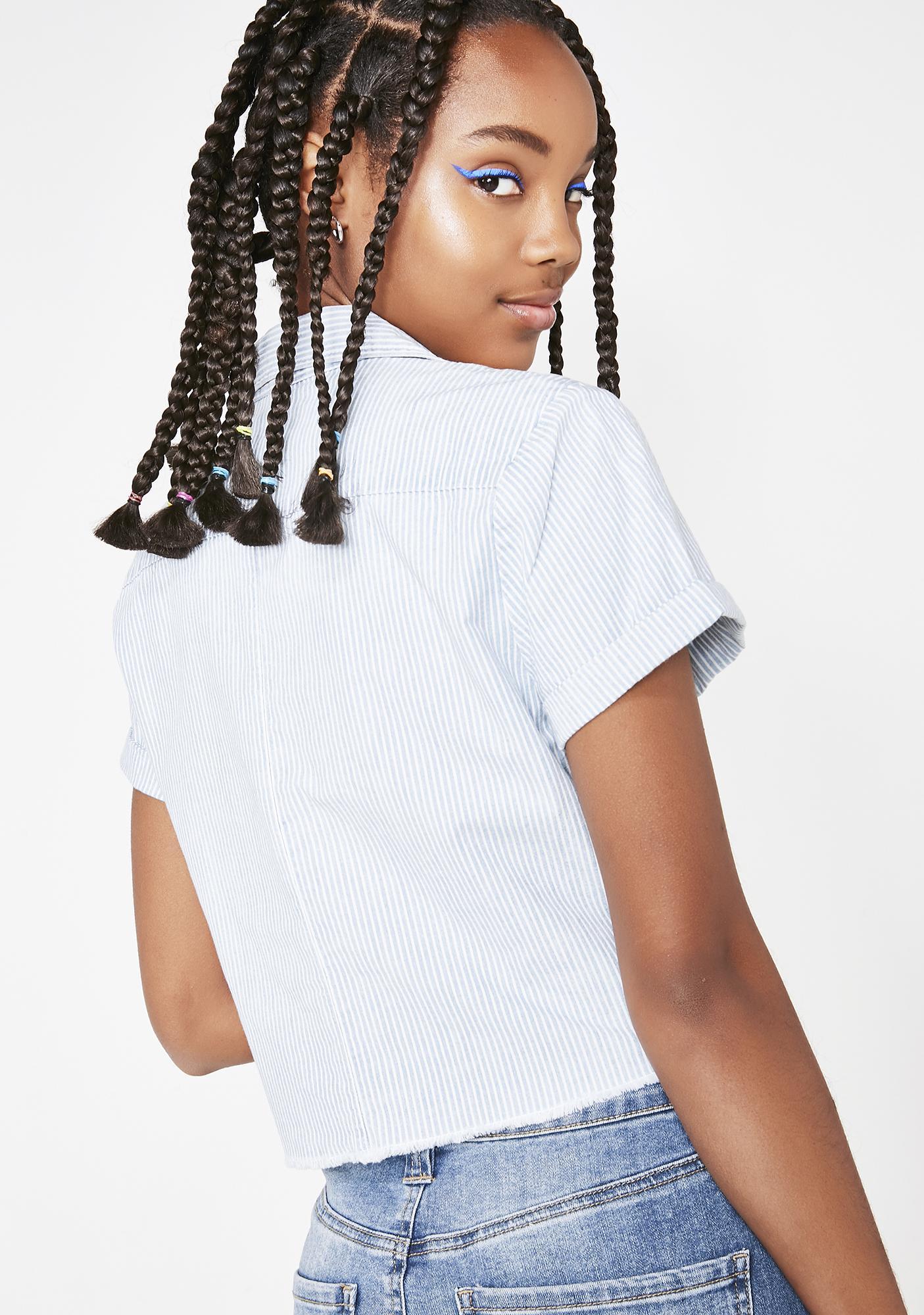 Dickies Girl Cropped Work Shirt