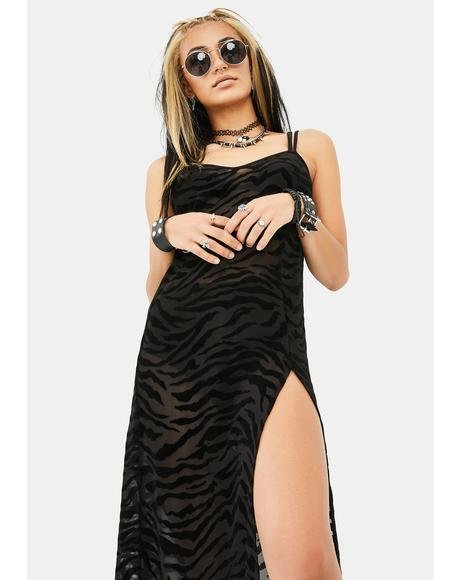Zebra Print Batis Dress