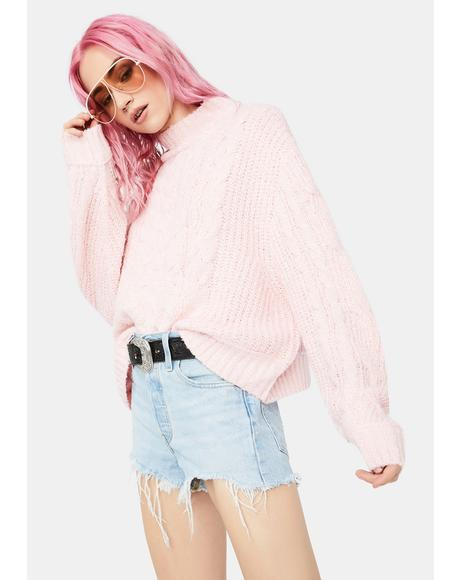Let's Cozy Up Mock Neck Sweater