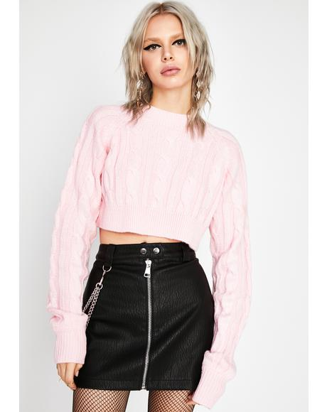 I'm Perfect Cropped Sweater