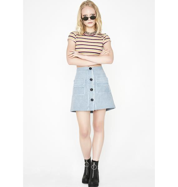 Rainbow Be Mellow Striped Top