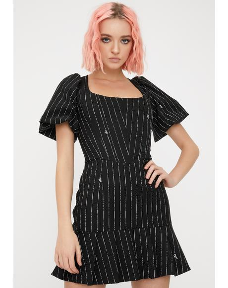 Pinstripe Chelsey Mini Dress