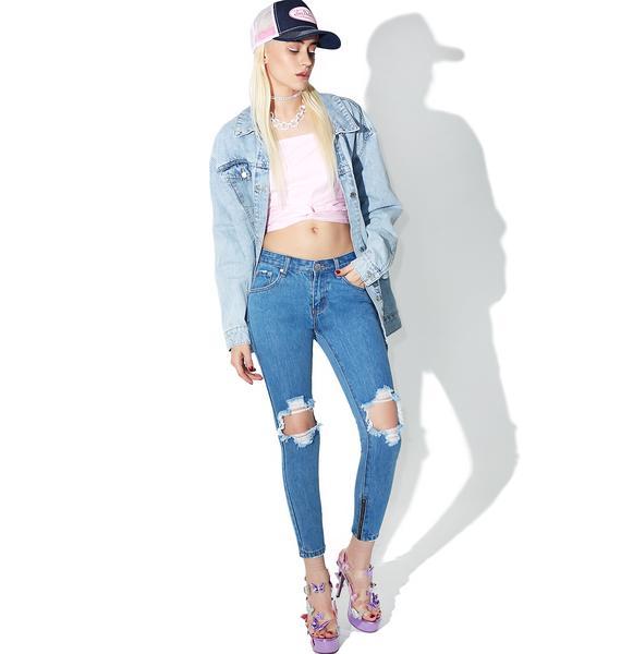 Glamorous Distressed Denim Jeans