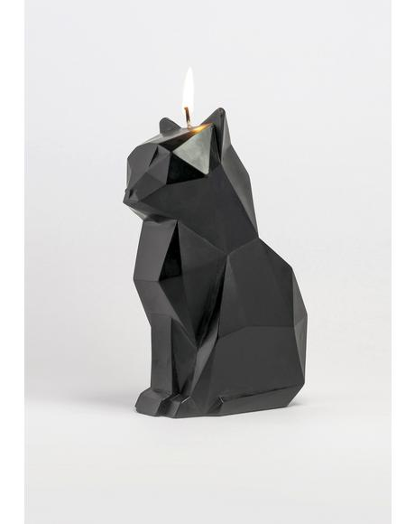 Black Kisa Cat Candle