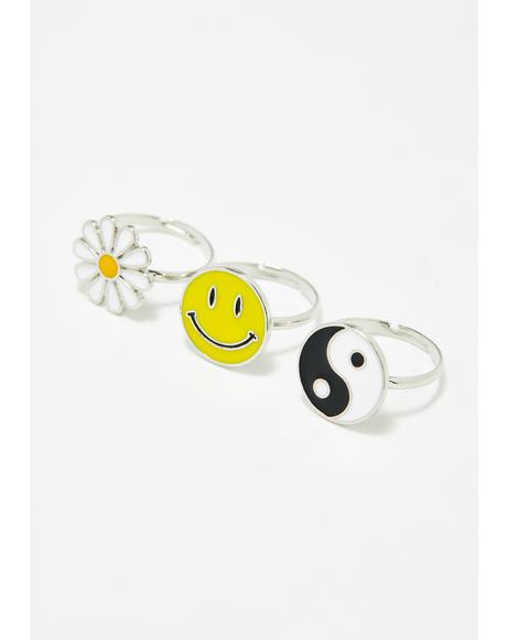 Sunshine Tripster Ring Set