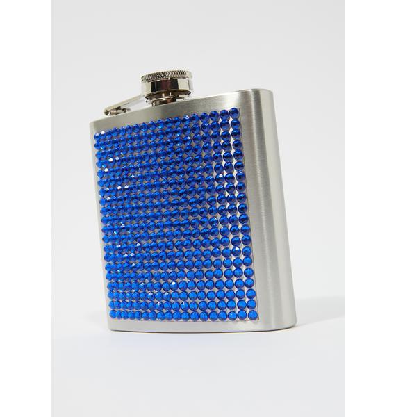 Sea Knew You Would Rhinestone Flask