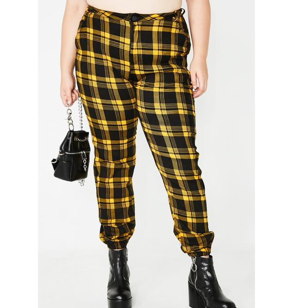 Bad Misconduct Plaid Joggers
