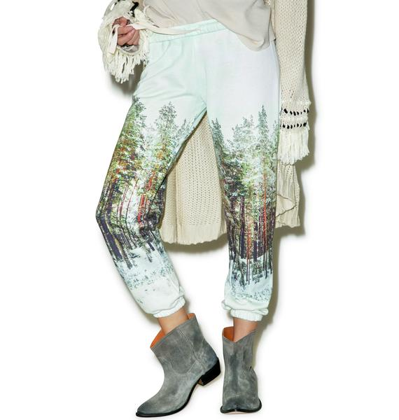All Things Fabulous Landscape Print Sweatpants