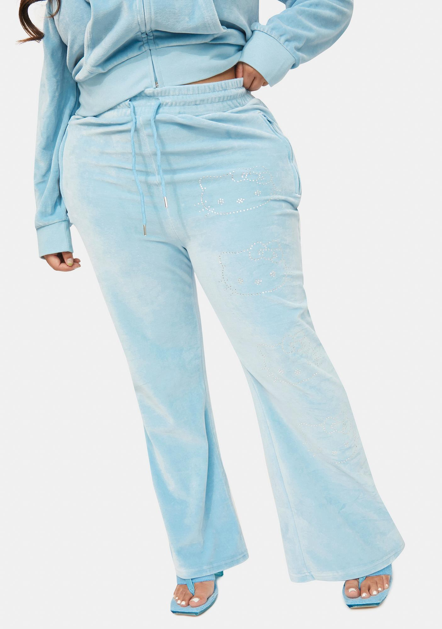NEW GIRL ORDER Curve Hello Kitty Velour Joggers