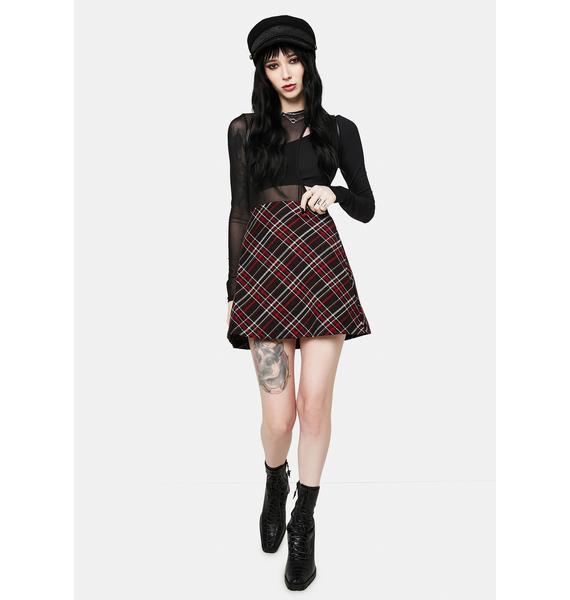 Free People Kensington Plaid Mini Skirt
