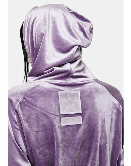 x Masha Tsigal Purple Cropped Hoodie