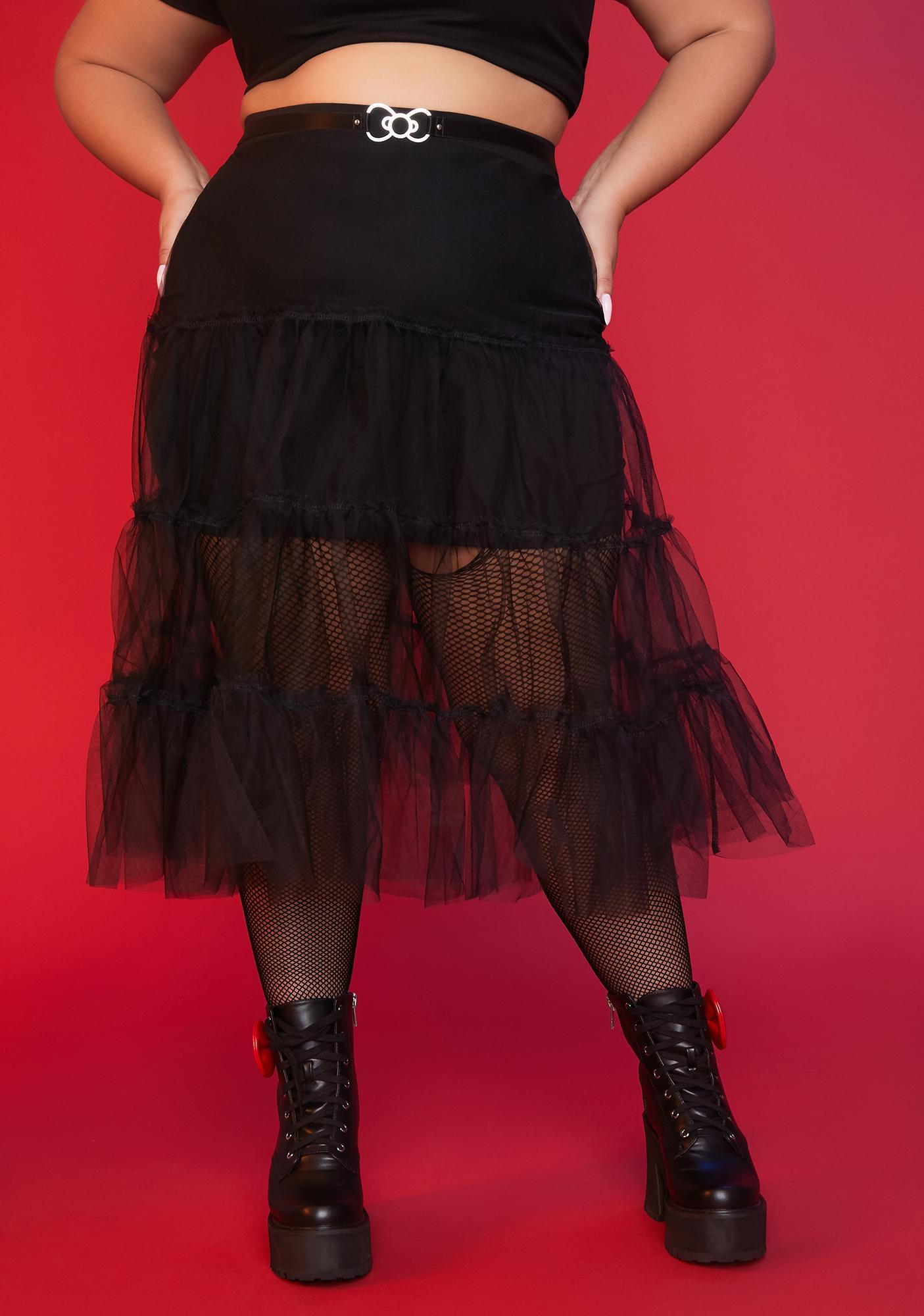 Dolls Kill x Hello Kitty You're Everything I Wanted Mesh Midi Skirt