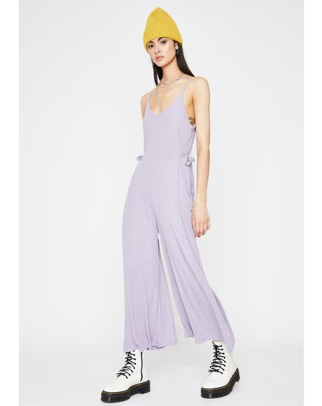 Purp Don't Talk To Me Tank Jumpsuit