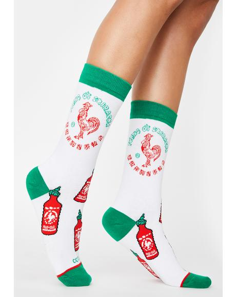 Sriracha All Over Crew Socks
