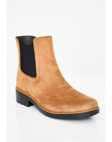 Mocha Can't Quit You Chelsea Boots