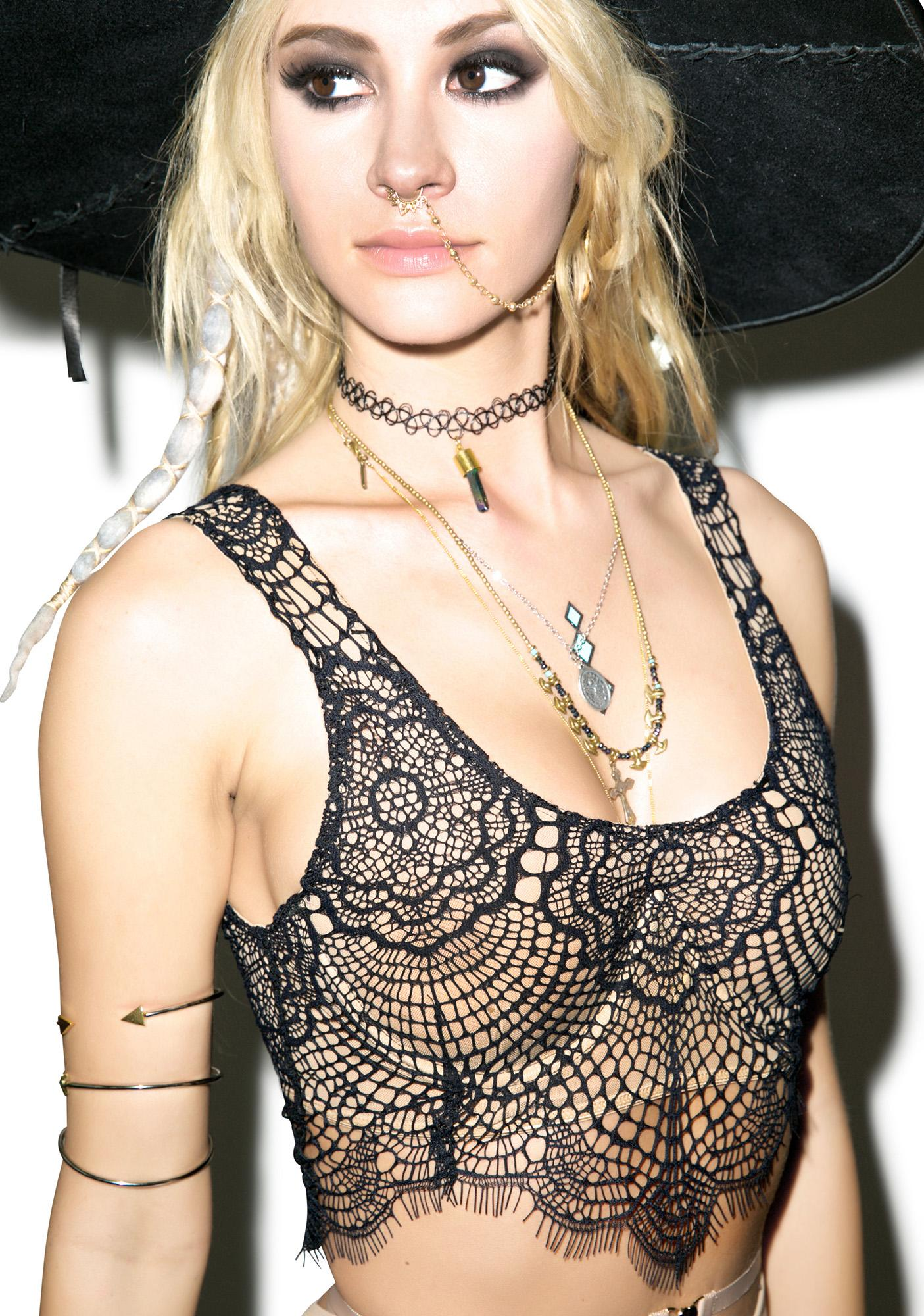 For Love & Lemons Spring Fling Underwire Crop Bra