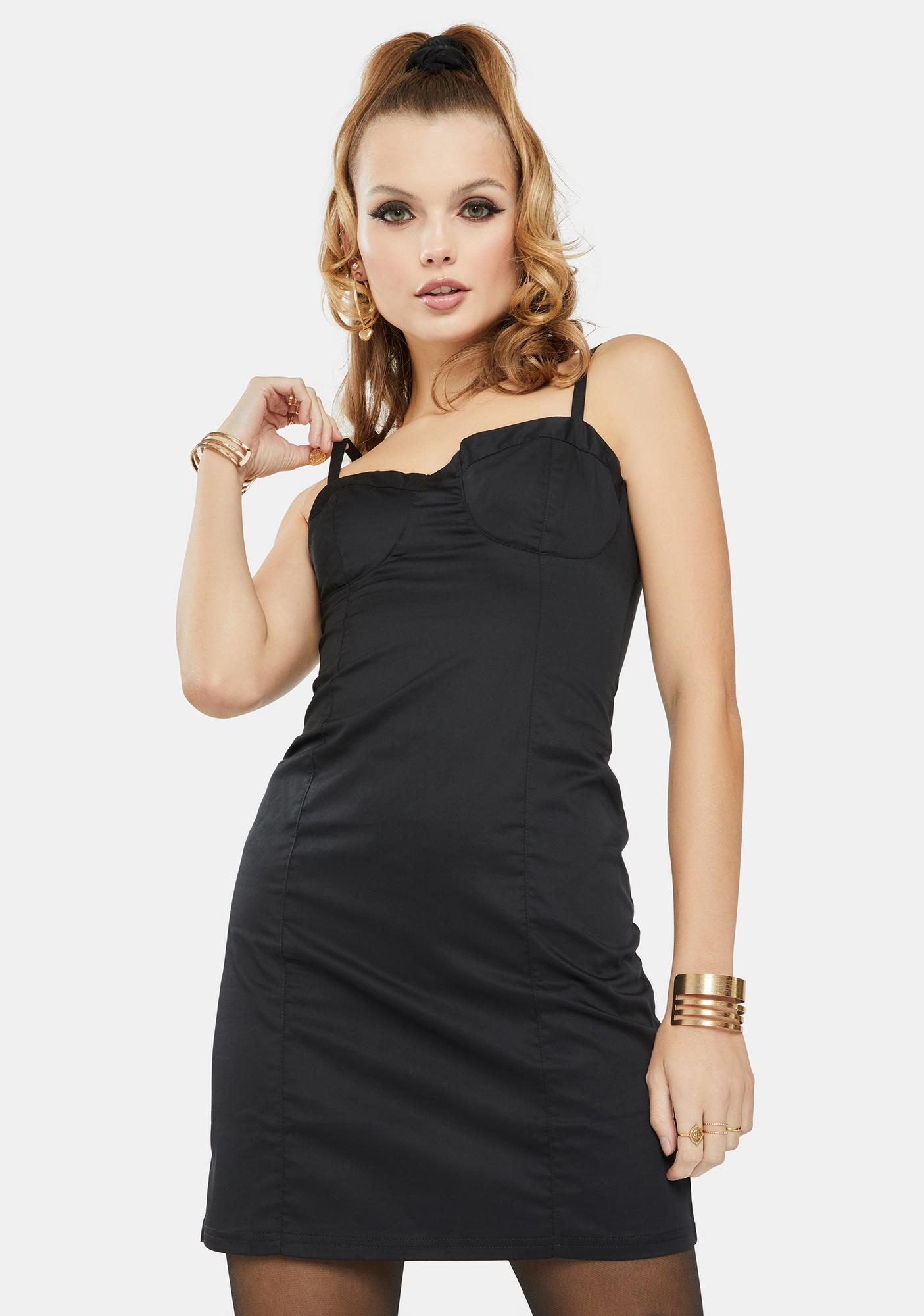 Glamorous Black Tank Mini Dress