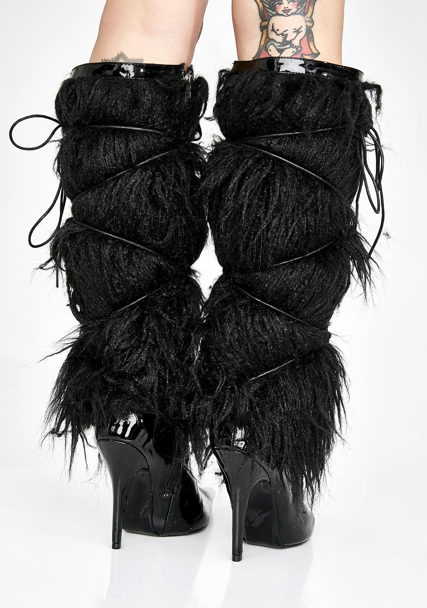 Diva Hustle Fuzzy Boots