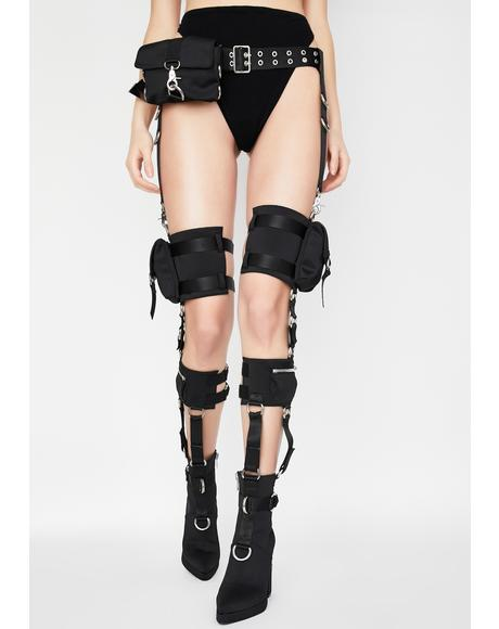 Rated R Harness Thigh Highs