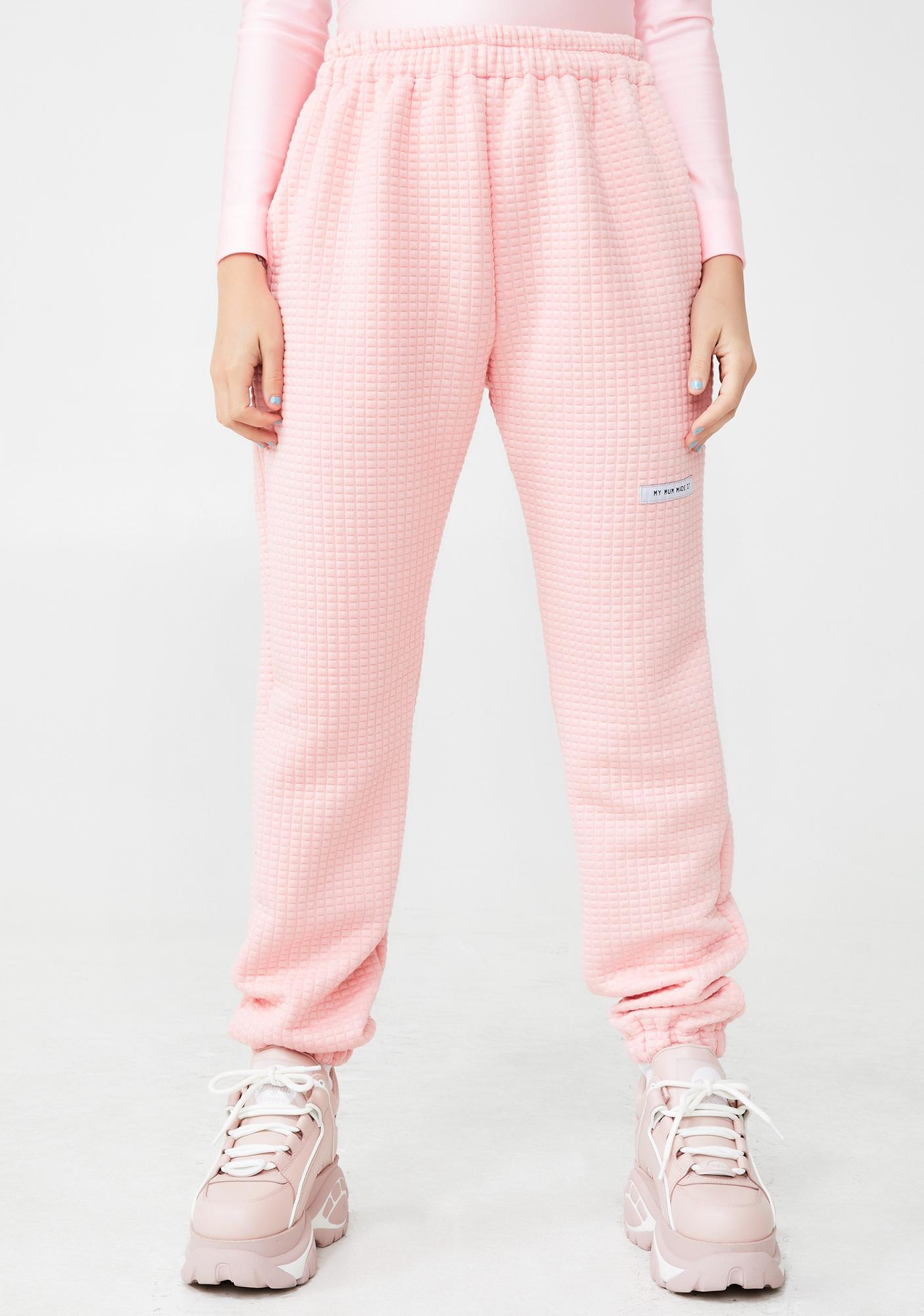 8b7e327fee Pink Quilted Sweatpants