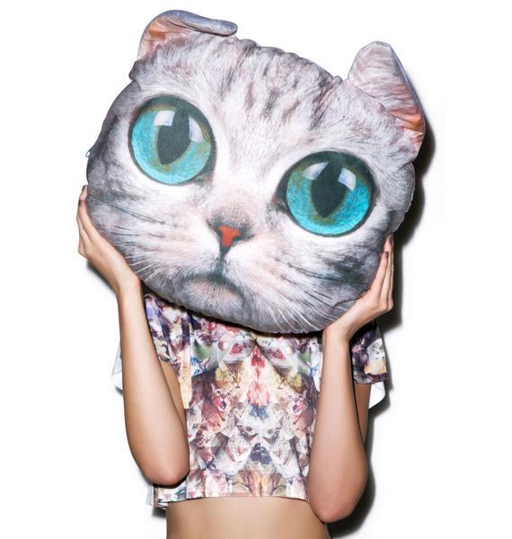 Grey Cat Pillow