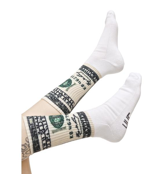 HUF Dolla Bills Crew Sock