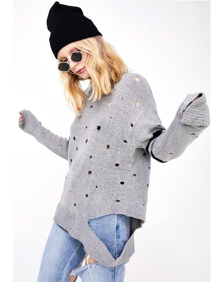 Holey Dotter Sweater