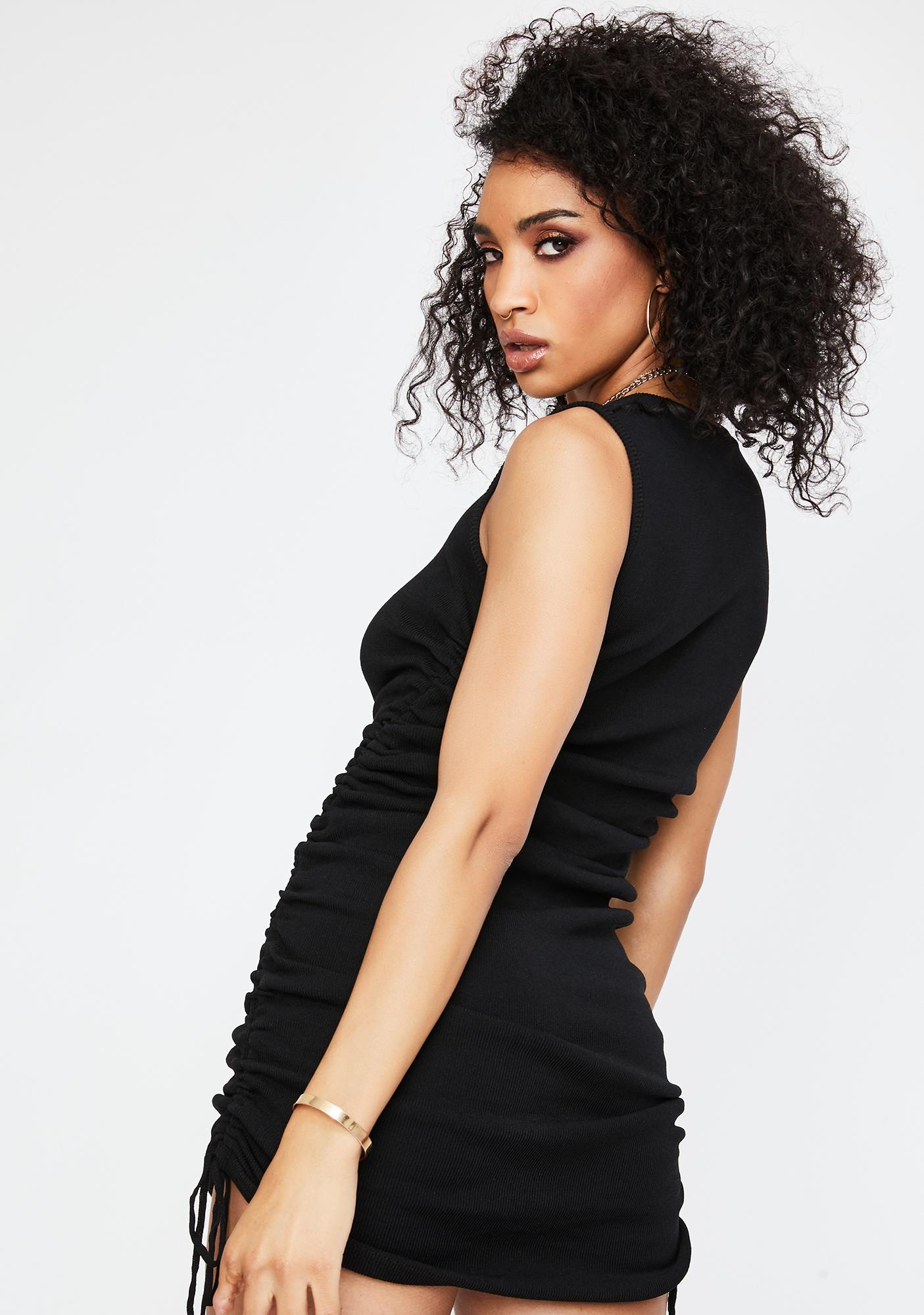 Lioness Black Military Minds Mini Dress