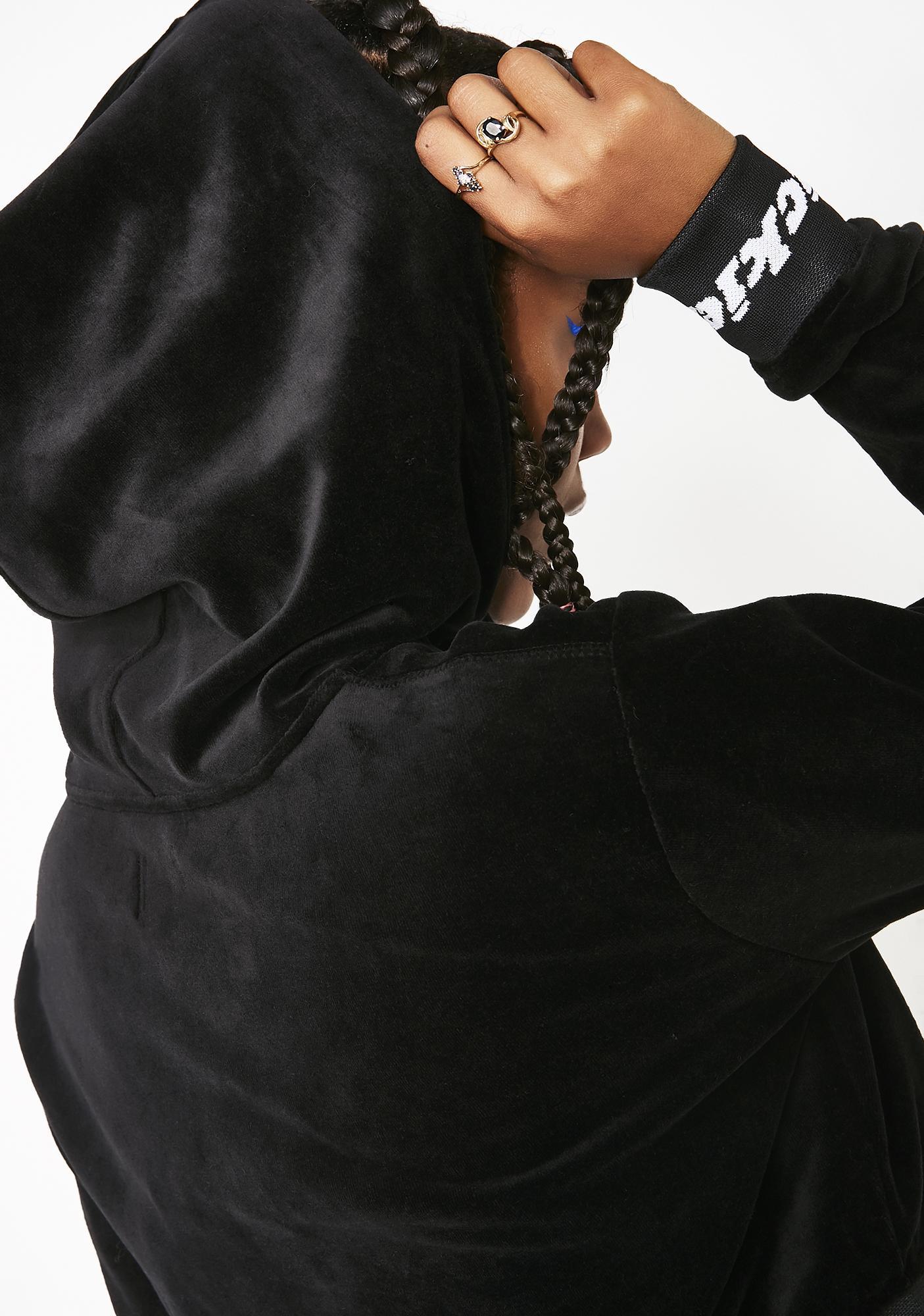 Dickies Girl Velour Cropped Hoodie