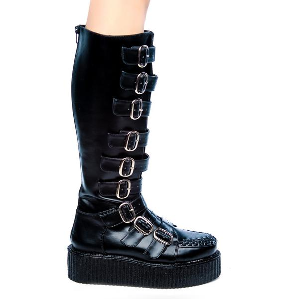 Demonia Wicked Buckle Creeper Boots