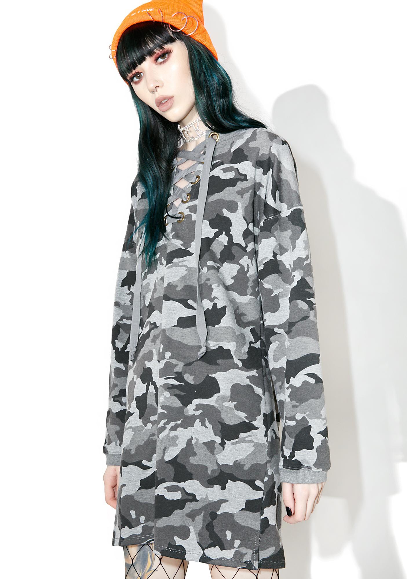 Commander Lace-Up Sweatshirt