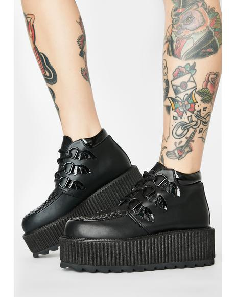 Black Super Kreep Platform Shoes