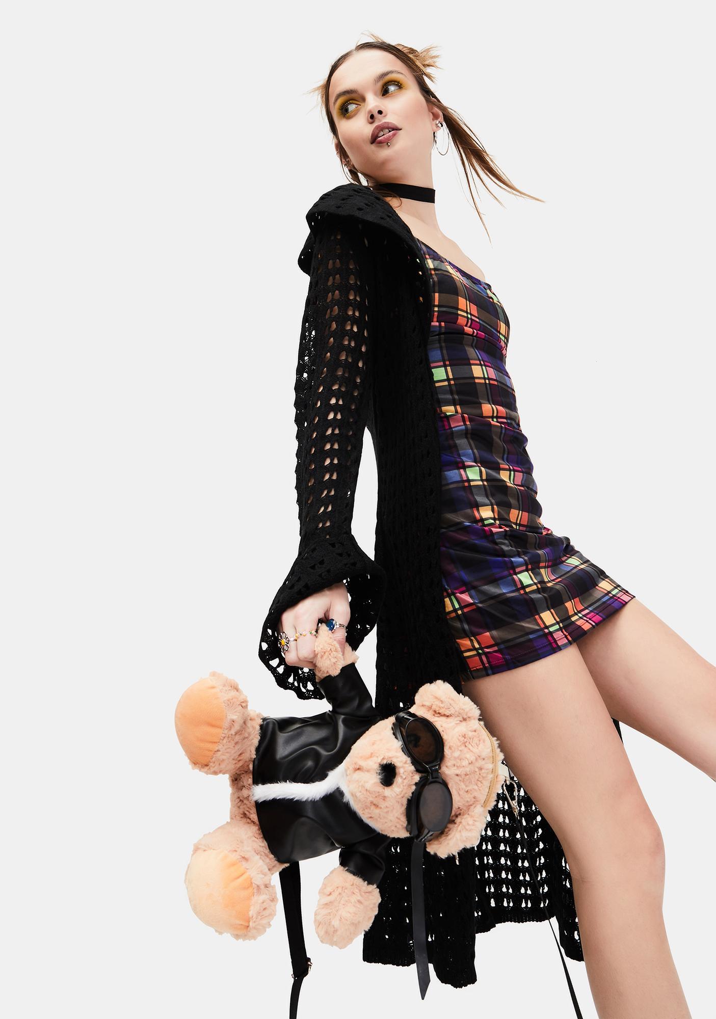 dELiA*s by Dolls Kill Running Wild Plaid Mini Dress