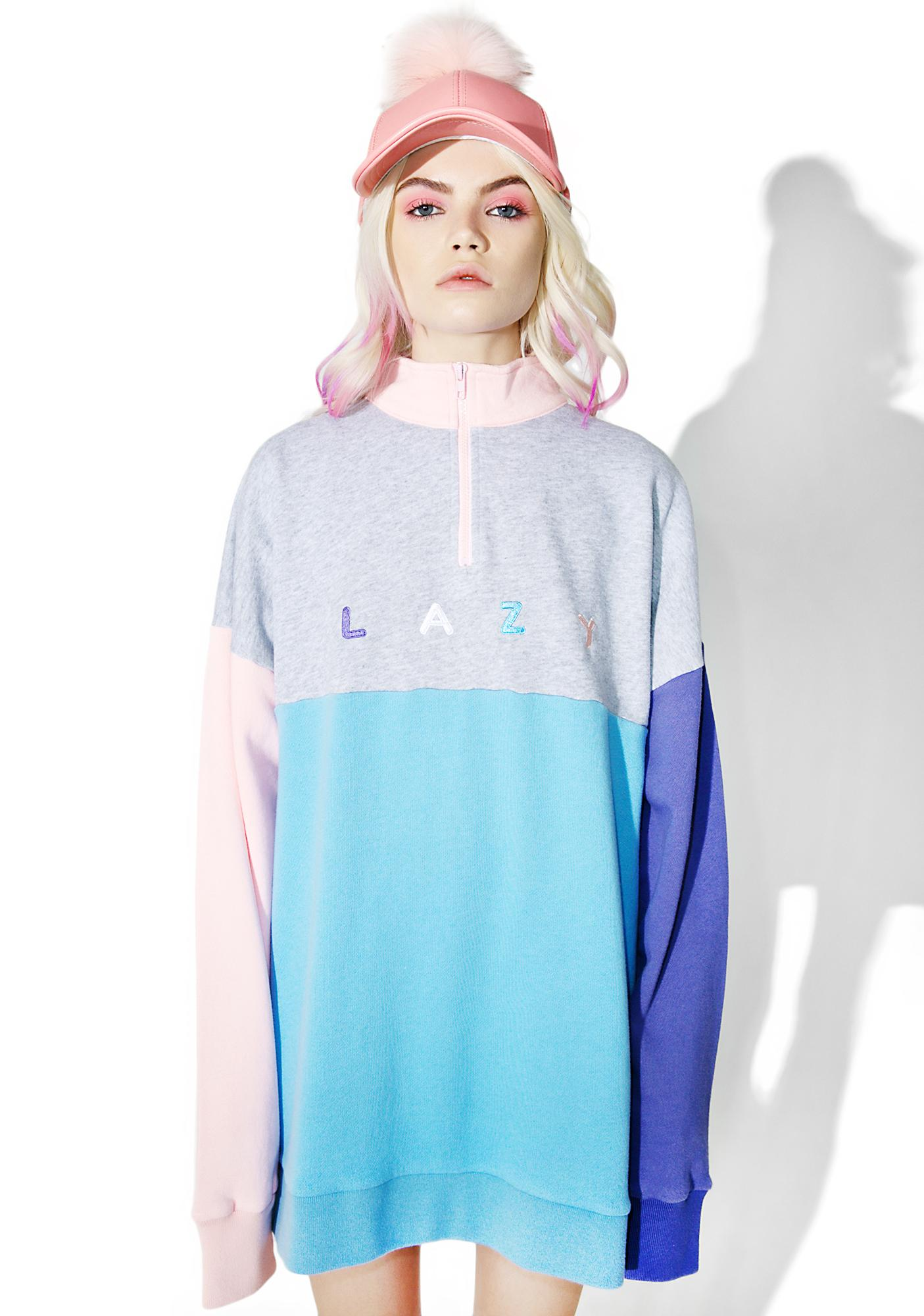 Lazy Oaf Panel Zip Sweatshirt