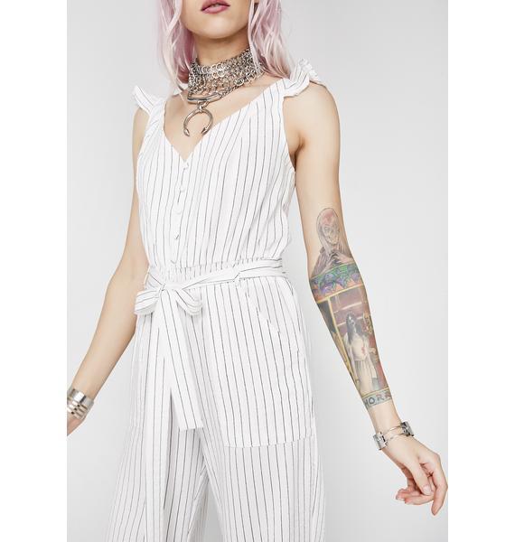 Unprofessional Striped Jumpsuit